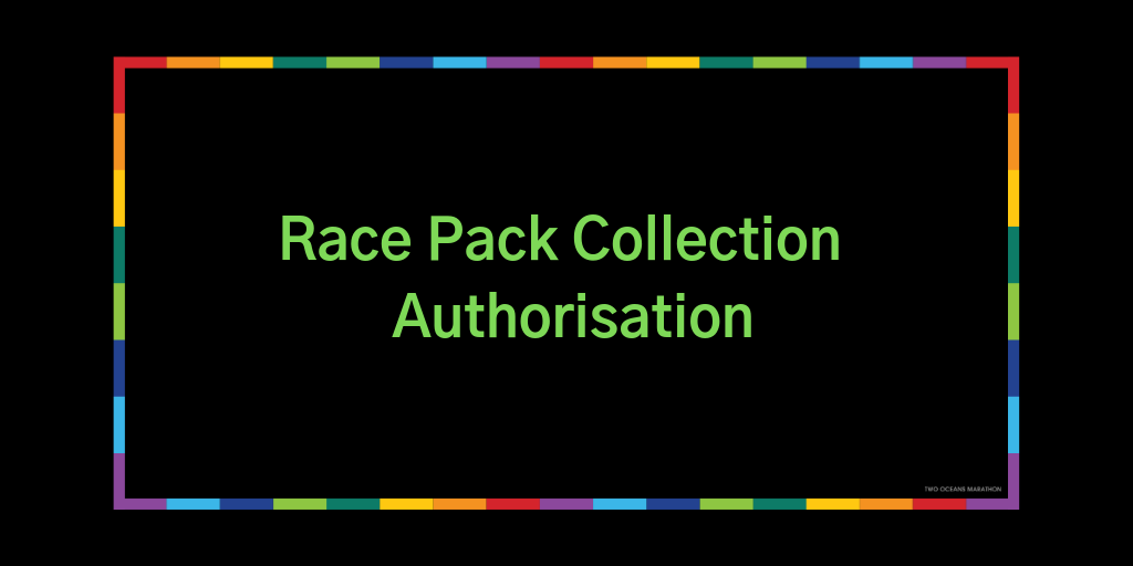 Race Pack Collection Representative Authorisation Letter