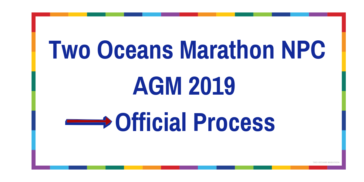 Two Oceans Marathon NPC Annual General Meeting (AGM) 2019