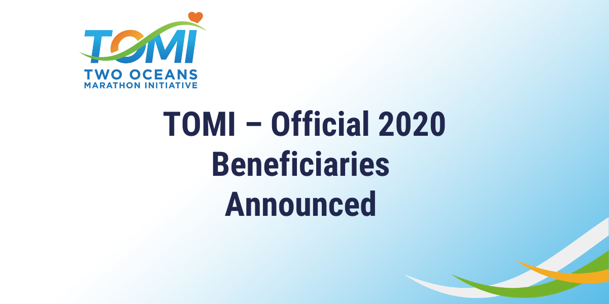 The Two Oceans Marathon Initiative allocates TOMI Runner Donations to Charitable Causes